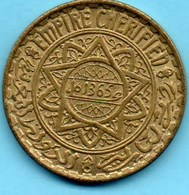 (r65)  MAROC / MOROCCO 5 FRANCS 1365  French Protectorate - Morocco