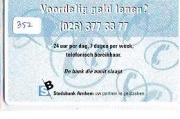 NEDERLAND CHIP TELEFOONKAART CRE 352 * ARNHEM STADSBANK  *  Telecarte A PUCE PAYS-BAS * ONGEBRUIKT MINT - Netherlands