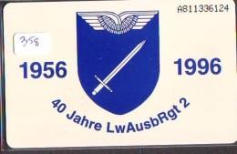 NEDERLAND CHIP TELEFOONKAART CRE 358 * 40 Jahre LwAusbRgt 2 * FL 25,00 *  Telecarte A PUCE PAYS-BAS * ONGEBRUIKT MINT - Armee
