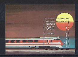 "Congo Bloc YT 48B "" Locomotive "" 1991 Neuf** - Congo - Brazzaville"