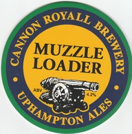 NEW UNUSED - CANNON ROYAL BREWERY (OMBERSLEY, ENGLAND) - MUZZLE LOADER - PUMP CLIP FRONT - Signs