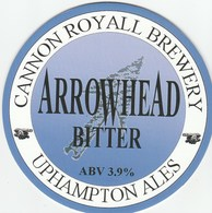 NEW UNUSED - CANNON ROYAL BREWERY (OMBERSLEY, ENGLAND) - ARROWHEAD BITTER - PUMP CLIP FRONT - Signs