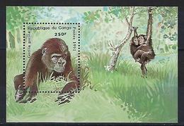 """Congo Bloc YT 50A """" Gorilles """" 1991 Neuf** - Congo - Brazzaville"""