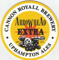 NEW UNUSED - CANNON ROYAL BREWERY (OMBERSLEY, ENGLAND) - ARROWHEAD EXTRA - PUMP CLIP FRONT - Signs