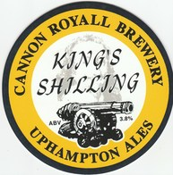 NEW UNUSED - CANNON ROYAL BREWERY (OMBERSLEY, ENGLAND) - KING'S SHILLING - PUMP CLIP FRONT - Signs