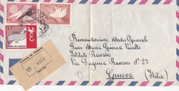BUSTA VIAGGIATA VIA AEREA - PARAGUAY - DESTINAZIONE GENOVA ( ITALIA ) 1962 - Paraguay