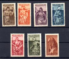 1934  Sarre, œuvres Populaires, 165 / 171 **,  Cote 300 €, - 1920-35 Société Des Nations