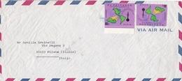 BUSTA VIAGGIATA VIA AEREA - EL SALVADOR - DESTINAZIONE MILANO   ( ITALIA ) 1975 - El Salvador