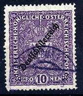 AUSTRIA 1919 Deutschösterreich 10 Kr. 25 X 30mm Used. Michel 246 I A - 1918-1945 1st Republic