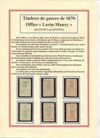 """FRANCE- Série Complète Neuve Office """"Lorin-Maury"""" De 1870 - Guerre"""
