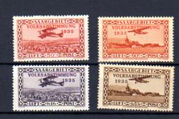 1934  Sarre,  Plébiscite, PA 5 / 8 **,  Cote 65 € - Poste Aérienne