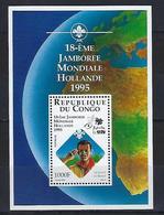 """Congo Bloc YT 62 """" Jamborée Aux Pays-Bas """" 1995 Neuf** - Congo - Brazzaville"""