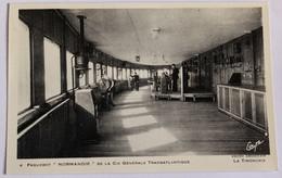 CPA Paquebot Le Normandie La Timonerie Photo Desboutin Compagnie Générale Transatlantique - Steamers