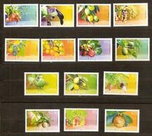 Saint Lucia Sainte-Lucie 2005 Yvertn° 1222-1235 *** MNH Cote 46,00 Euro  Flore Fruits - St.Lucie (1979-...)