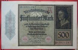 500 Mark 1922 (WPM 73) 27.3.1922 - 1918-1933: Weimarer Republik