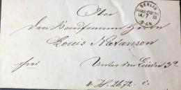 1878, Schwarzer BERLIN FRANCO STADT BRF. Uaf Ortsbrief. - Allemagne