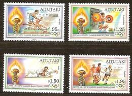 Aitutaki 1992 Yvertn° 506-509 *** MNH Cote 15,00 Euro Sport Jeux Olympiques Barcelone - Aitutaki