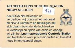NEDERLAND CHIP TELEFOONKAART CRE 366 * Air Operations Control Station *  Telecarte A PUCE PAYS-BAS * ONGEBRUIKT MINT - Netherlands