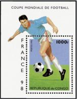 "Congo Bloc YT 65 "" Football, France' 98 "" 1996 Neuf** - Congo - Brazzaville"