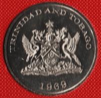 TRINIDAD AND TOBAGO 1 DOLLAR 1969 FAO KM# 6 FOOD FOR ALL - Trinité & Tobago