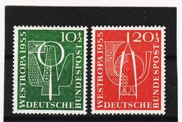 ORY197 DEUTSCHLAND BRD 1955 Michl 217/18 ** Postfrisch SIEHE ABBILDUNG - BRD