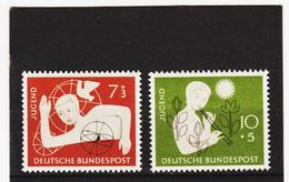 ORY200 DEUTSCHLAND BRD 1956 Michl 232/33 ** Postfrisch SIEHE ABBILDUNG - BRD