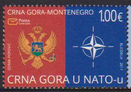 MONTENEGRO ,2017,MNH, NATO, MILITARY ALLIANCES ,1v - NATO