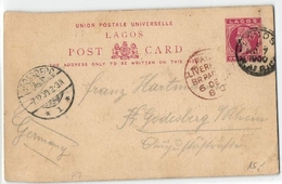 One Penny Ganzsache Aus Lagos 1900 (448893) - Nigeria (...-1960)