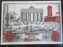 Postkarte Postcard Berlin Olympiade / Olympics / 700 Jahre - Deutschland
