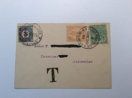 Uruguay Postage Due MONTEVIDEO CIUDAD NUEVA AL SUD 1905 Local Cover (lettre Brief - Uruguay