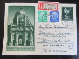 Postkarte Postcard Ganzsache R-Brief An Leutnant - Gmunden November 1944 - Briefe U. Dokumente
