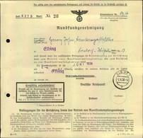 1938, Rundfunkgenehmigung Ausgestellt In ELBING - Allemagne