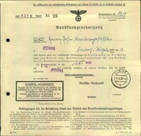 1938, Rundfunkgenehmigung Ausgestellt In ELBING - Germany