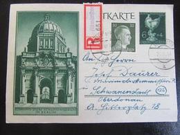 Postkarte Postcard Ganzsache R-Brief - Altmünster September 1944 - Briefe U. Dokumente