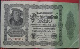 50000 Mark 1922 (WPM 79) 19.11.1922 - [ 3] 1918-1933 : Weimar Republic