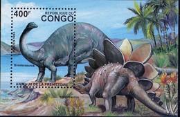 PIA - CONGO  - 1993 : Animali Preistorici :  Brontosaurus - Congo - Brazzaville