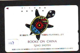 Télécarte JAPON * CHINA RELATED * TURTLE  (127) Telefonkarte Phonecard JAPAN * - Japan