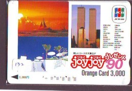 Télécarte JAPON * CHINA RELATED * TWIN TOUWERS   (132) Telefonkarte Phonecard JAPAN * - Japan
