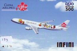 Télécarte JAPON * CHINA RELATED * AIRPLANE CHINA AIRWAYS (133) * Phonecard JAPAN * - Japan