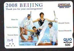 Télécarte JAPON * CHINA RELATED *  SPORT (139) Telefonkarte Phonecard JAPAN * BEIJING - Japan