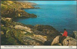Five Points Clodgy, St Ives, Cornwall, C.1970s - Harvey Barton Postcard - St.Ives