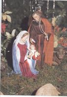 Weihnachts Faltkarte - Die Heilige Familie -   -  (V-3-396 - Noël