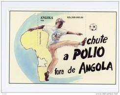 Angola-1998-Vaccination Contre La Poliomiélite-carte D'afrique,shoot Dans Un Ballon-YT B47***MNH - Angola