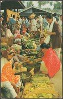 A Malay Market Scene, Malaya, C.1960s - Malayan Color Views Co Postcard - Malaysia