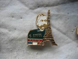 Pin's De Georges EIFFEL à Coté De La Tour EIFFEL à Paris - Personnes Célèbres