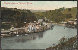 Fowey, Showing Railway Station, Cornwall, C.1905-10 - Argall's Postcard - England
