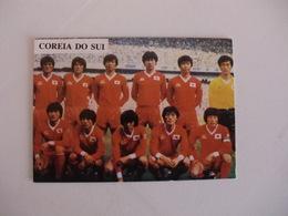 Football Futebol World Cup México 86 South Korea Team Portugal Portuguese Pocket Calendar 1986 - Calendars