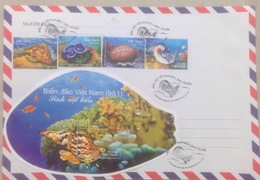FDC Vietnam Viet Nam With Perf Stamps & Souvenir Sheet : Marine Life / Shell - Issued On 23rd Of June 2018 - Vietnam