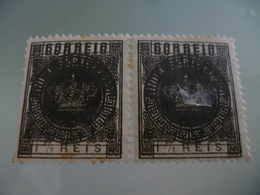 INDIA - 1882 - TIPO COROA - DUPLA IMPRESSAO / DOUBLE PRINTING - India Portuguesa