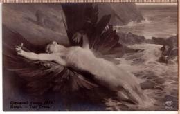 Artist-Signed-T-Styka-DEATH Winged ICARUS -Salon-de-Paris-EAS-2937-Russian Edit - Künstlerkarten